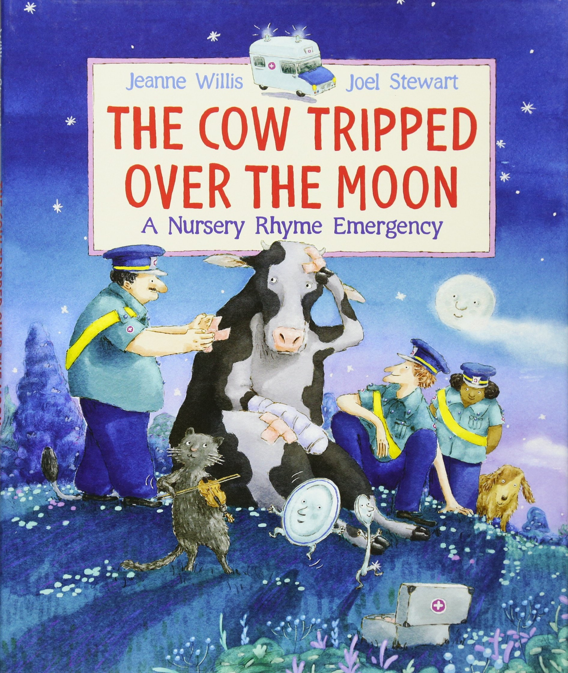 The Cow Tripped Over the Moon:  A Nursery Rhyme Image